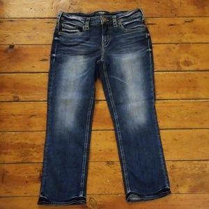 Silver Jeans Aiko Capri Sz W30/L22.5 EUC